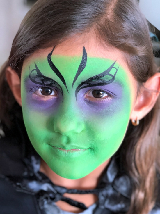 grüne kleine hexe schminken 04