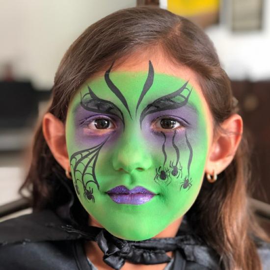 grüne kleine hexe schminken 09