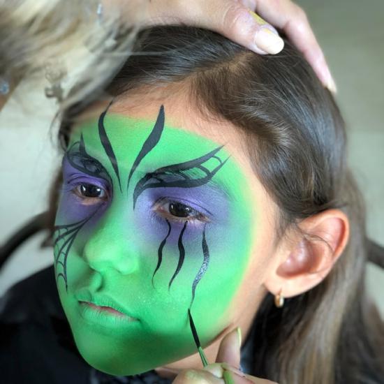 grüne kliene hexe schminken 06