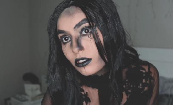 gruselige hexe schnminken last minute halloween make up