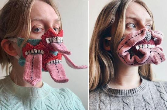 gruselige mundschutzmasken halloween kostüm