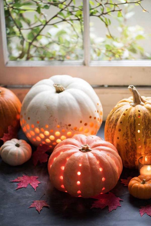 halloween deko selber machen deko aus kürbissen