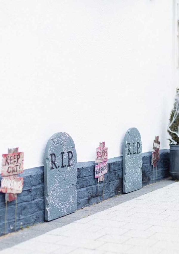 halloween deko wandgestaltung wand ideen