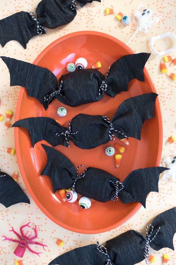halloween fledermäuse selber machen