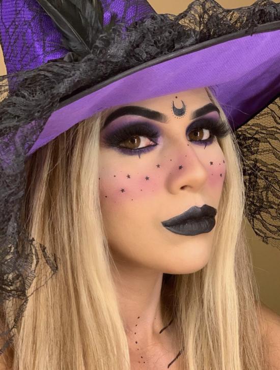 halloween make up idee hexe schminken