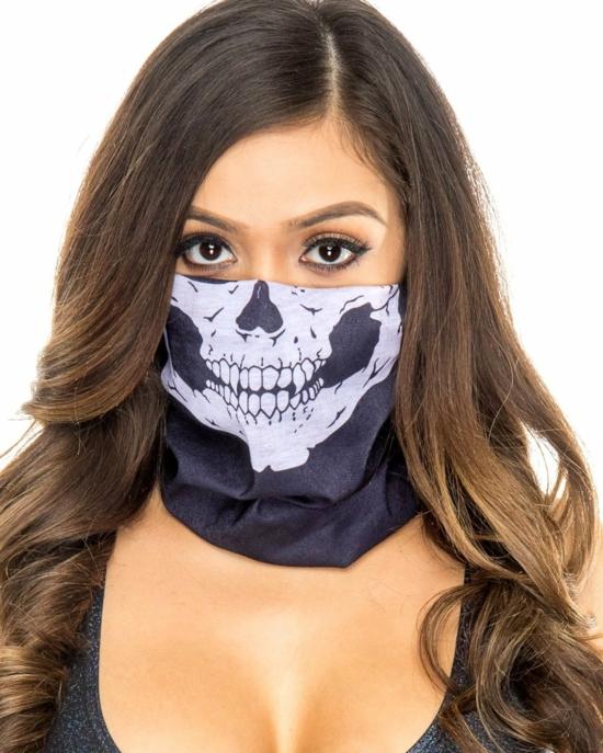 halloween mundschutzmasken skelett