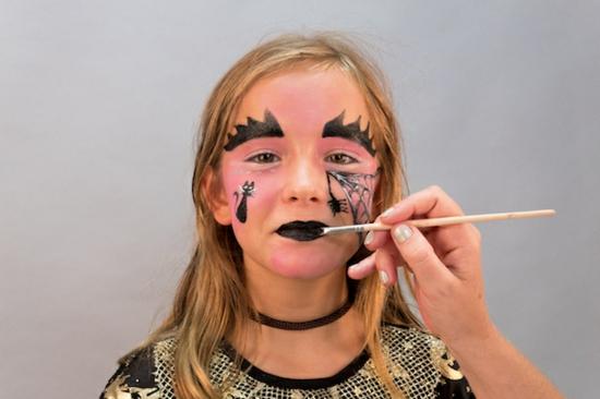 hexe schminken für kinder halloween