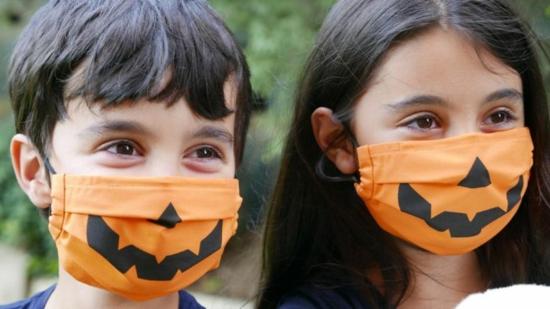 jack o lantern mundschutzmasken für kinder