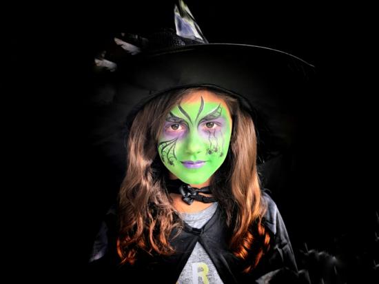 kleine grüne hexe von oz halloween make up