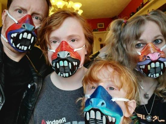 kreative mundschutzmasken zu halloween