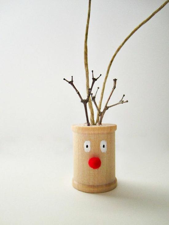 kreatives weihnachtsbasteln rentier basteln