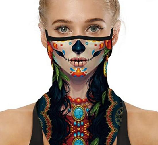kunstvolle mundschutzmasken halloween
