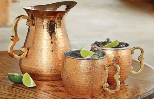 kupferbecher vase wasser trinken vorteile