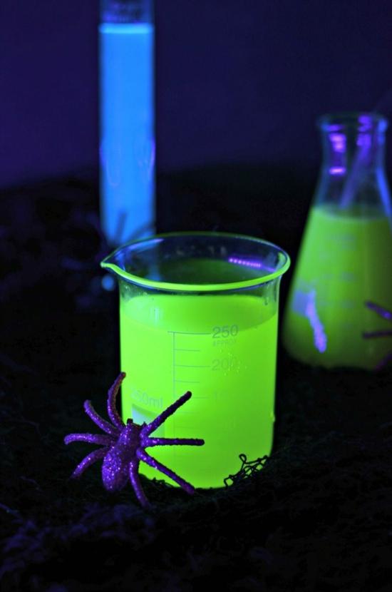 leuchtfarbe halloween ideen selber machen