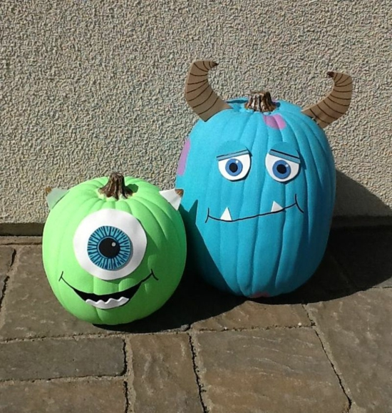 monster kürbis bemalen halloween deko