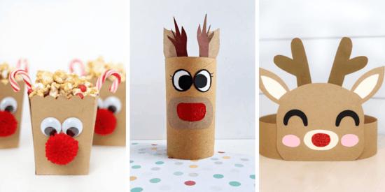 papier rentier basteln lustige bastelideen weihnachten
