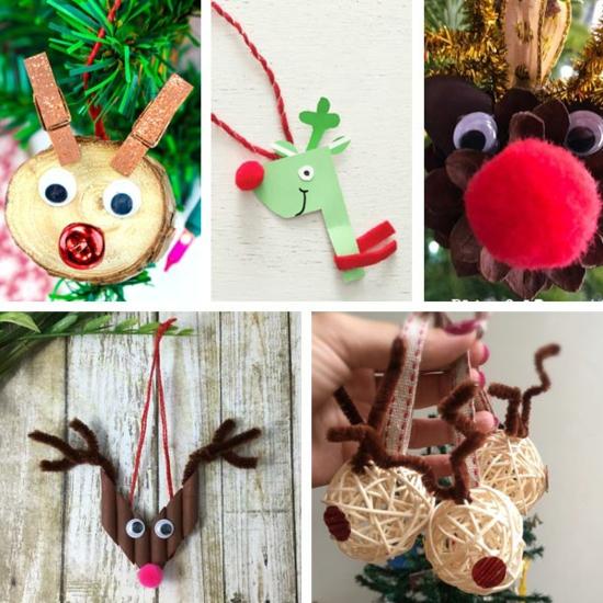 rentier basteln kreative ideen zu weihnachten