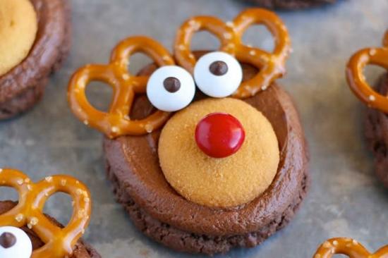 rentier basteln muffin dekorieren