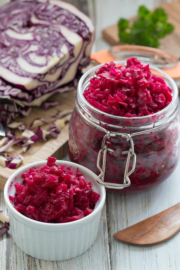 rotkohl sauerkraut zubereiten