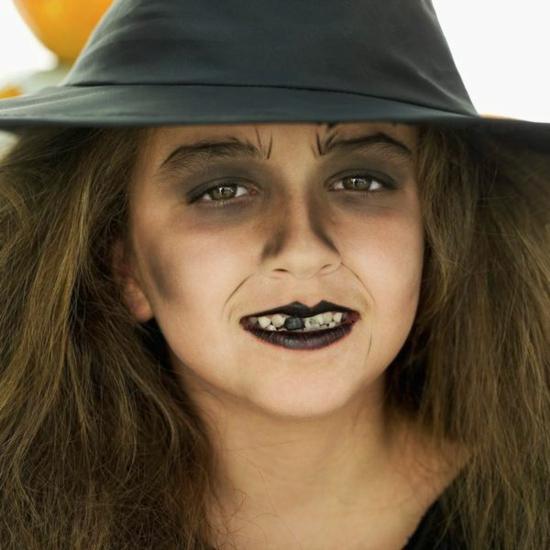 süße kleine hexe schminken kinder make up halloween