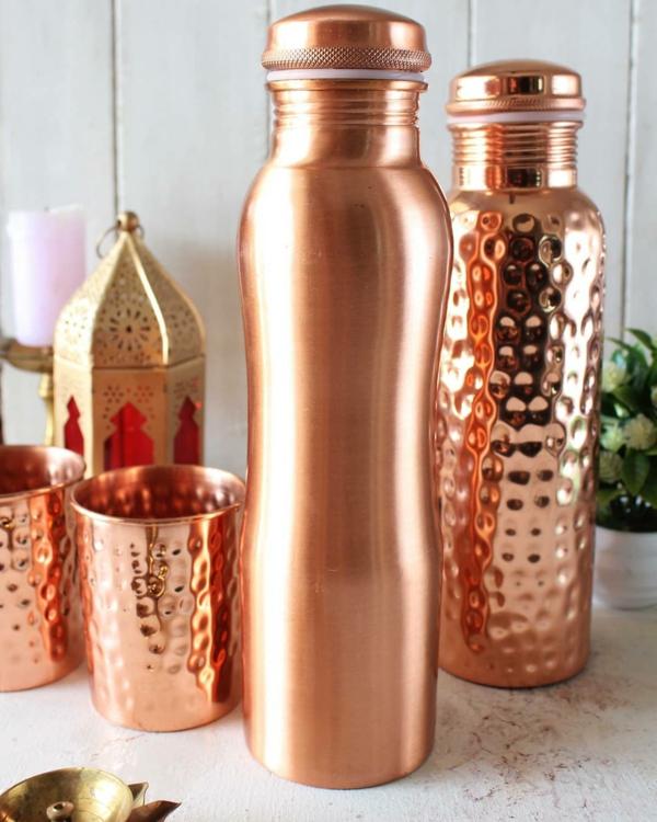 schöne kupferflasche wasser trinken gesund