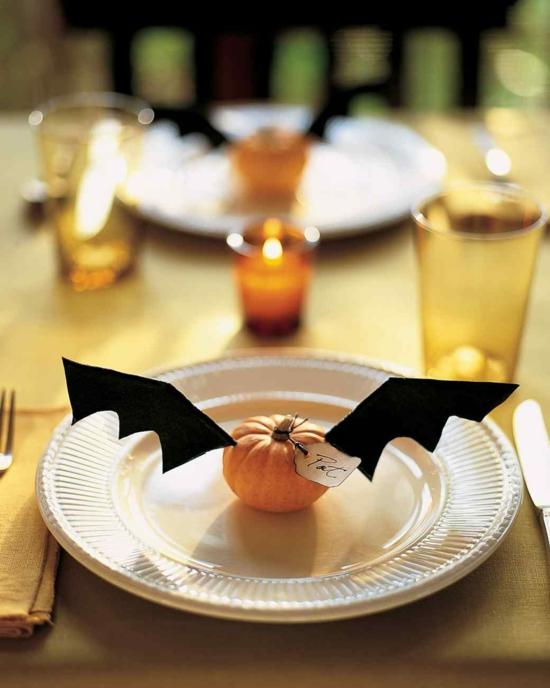 tischkarte halloween tischdeko ideen