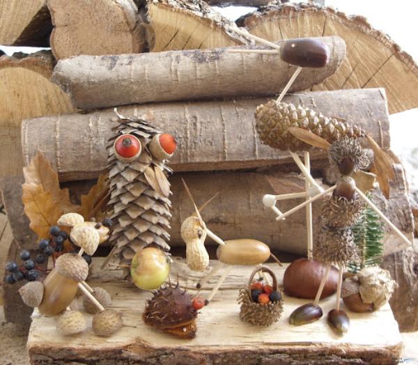 tolle figuren kastenanien Kastanienfiguren