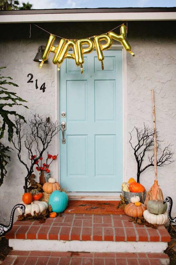 tolle türgestaltung halloween deko selber machen