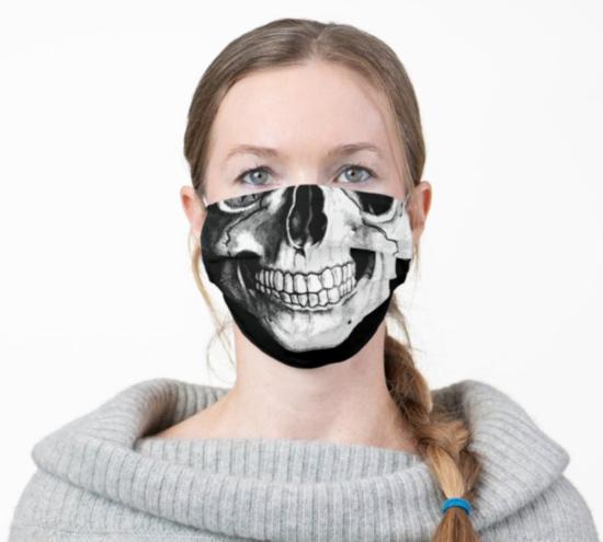 totenkopf mundschutzmasken halloween 2020