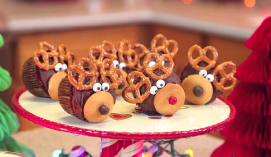weihnachtssüßigkeiten rentier basteln