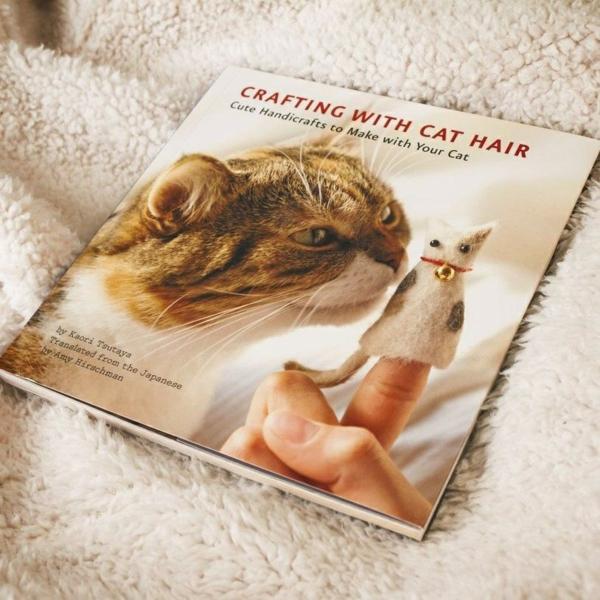 Basteln mit Katzenhaaren Herz basteln Anleitung Buch