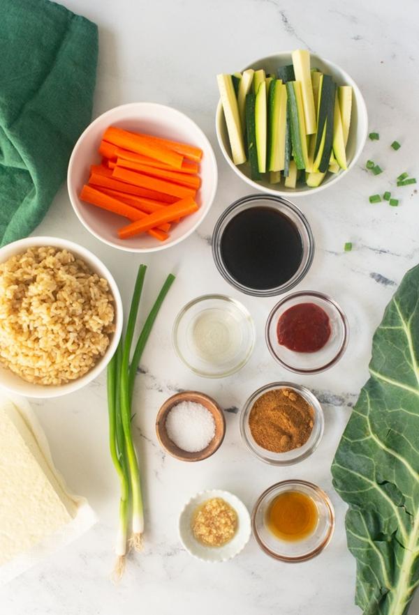 Bibimbap Rezept korianische Reispfanne zubereiten Zutaten