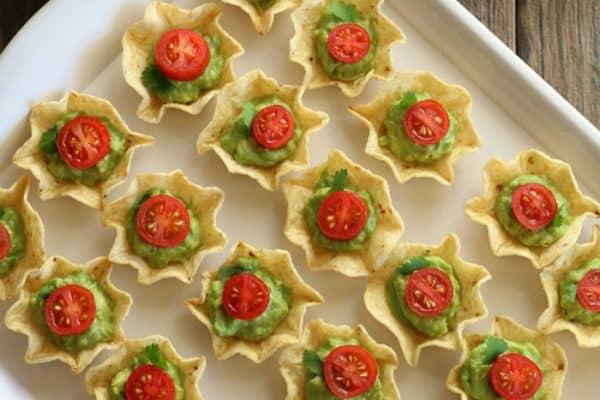 Chips Guacamole-Weihnachtsmenü Ideen Weihnachtsfeier veranstalten