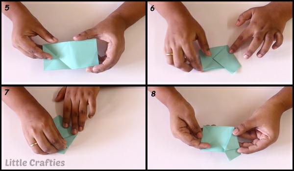 Faltsterne basteln 3D Papierstern Anleitung