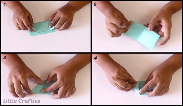 Faltsterne basteln 3D Papierstern
