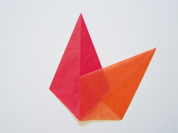 Faltsterne basteln Ideen Papierstern Schritt für Schritt Anleitung