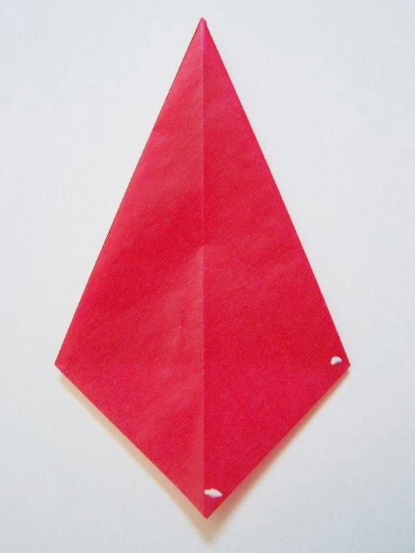 Faltsterne basteln Papierstern Drachenpapier