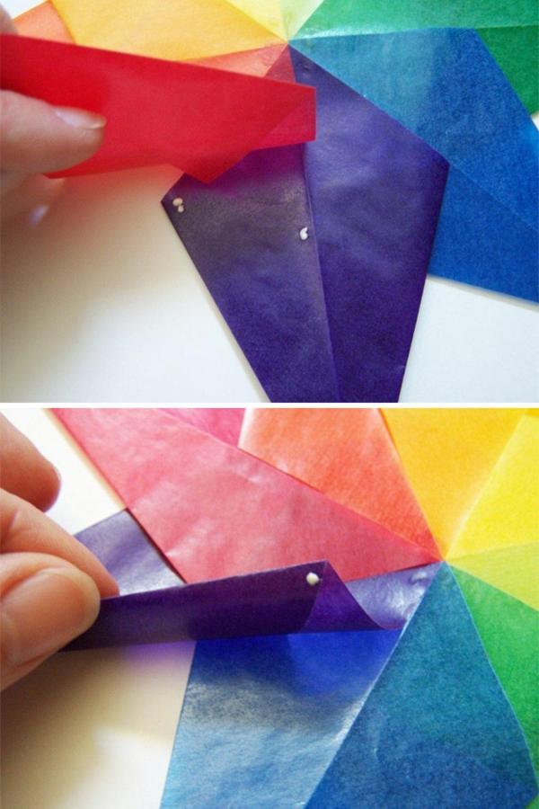 Faltsterne basteln Papierstern Schritt für Schritt Anleitung