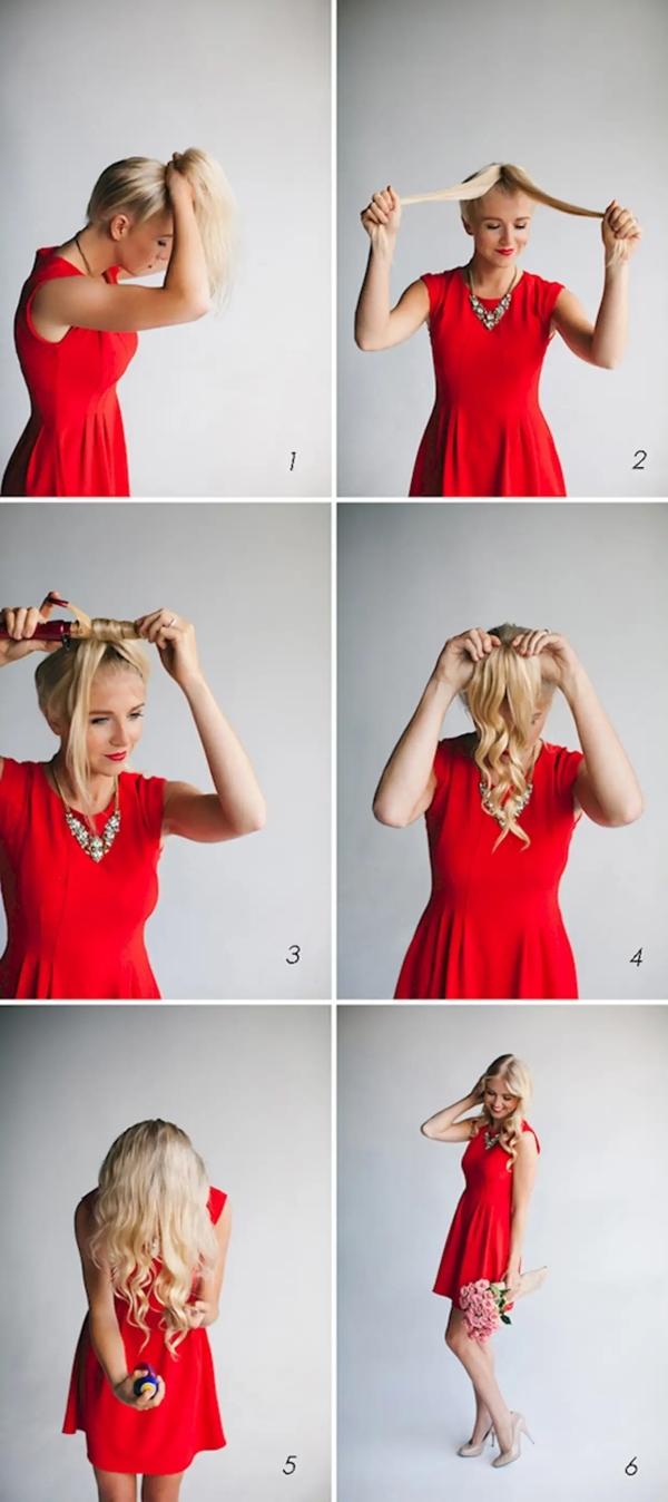 Hübsche, schnelle und einfache Frisuren für Anfänger, die in 5 Minuten machbar sind einfache wellen machen schnelle ideen