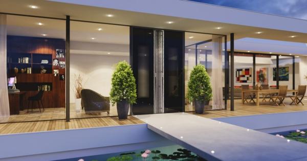 Haustür mit Seitenteil – Vor- und Nachteile, die Sie beim Kauf beachten sollten modernes haus glas wände tür
