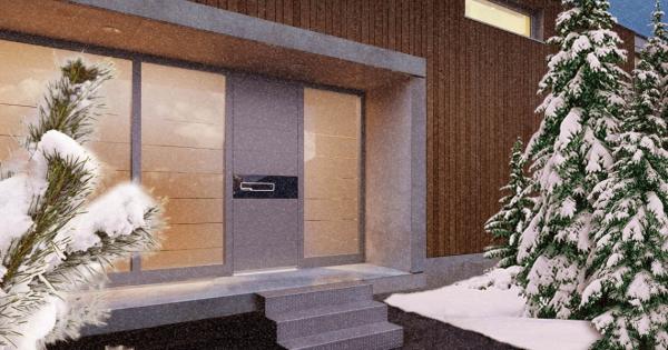 Haustür mit Seitenteil – Vor- und Nachteile, die Sie beim Kauf beachten sollten modernes haus winter tür isolierung
