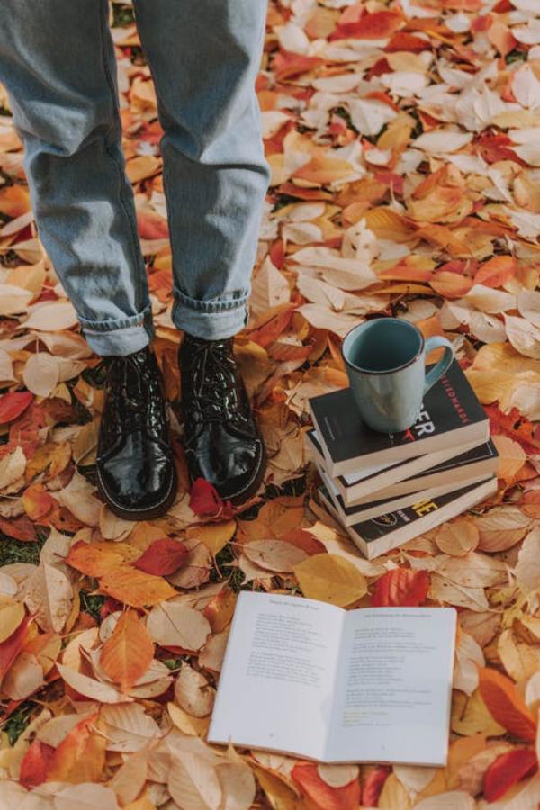 Herbstschuhe richtig auswählen – Folgendes sollten Sie beim Kauf beachten schwarze leder schuhe laub herbst