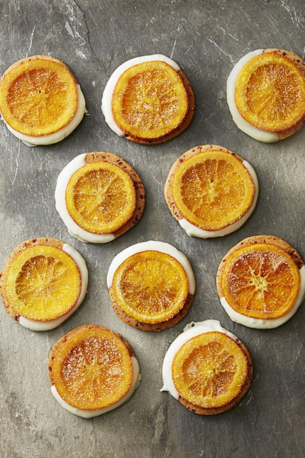 Köstliche Plätzchen Rezept Ideen für ein genussvolles Weihnachten kandierte orangenscheiben kekse glasur