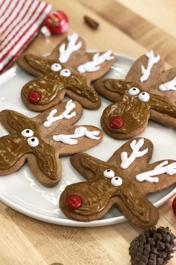 Köstliche Plätzchen Rezept Ideen für ein genussvolles Weihnachten lebkuchenmännchen form rudolf rentier