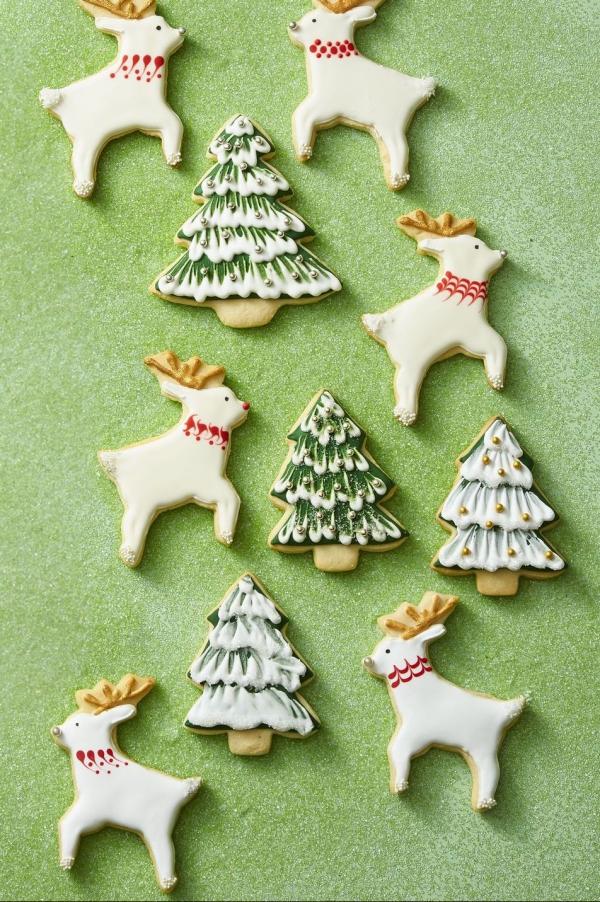 Köstliche Plätzchen Rezept Ideen für ein genussvolles Weihnachten rentiere christbaum deko kreativ