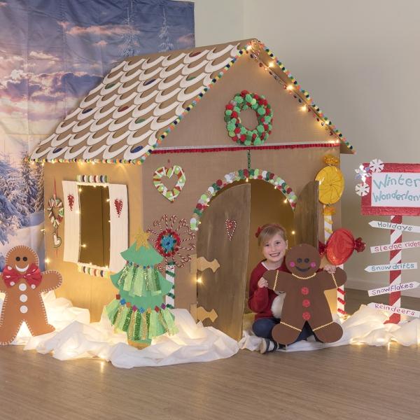 Lebkuchenhaus basteln zu Weihnachten – festliche Ideen, Rezept und Anleitung kinder haus karton ideen