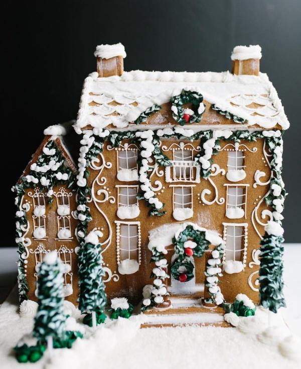 Lebkuchenhaus basteln zu Weihnachten – festliche Ideen, Rezept und Anleitung komplizierte projecte lebkuchen glasur deko