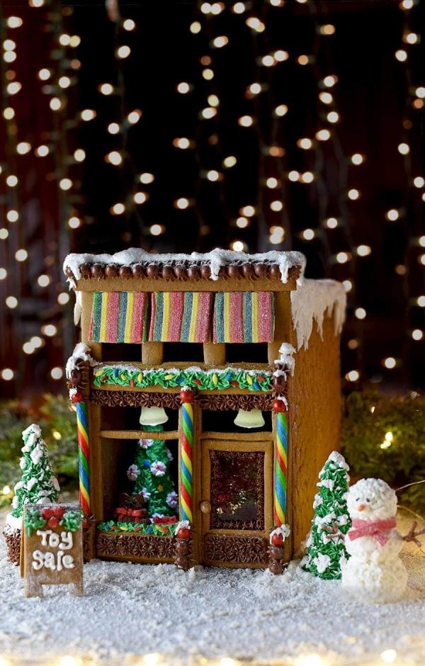 Lebkuchenhaus basteln zu Weihnachten – festliche Ideen, Rezept und Anleitung retro haus laden konditorei
