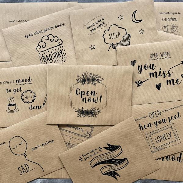 Liebliche und ausgefallene Geschenke für die beste Freundin öffne wenn nachrichten briefe