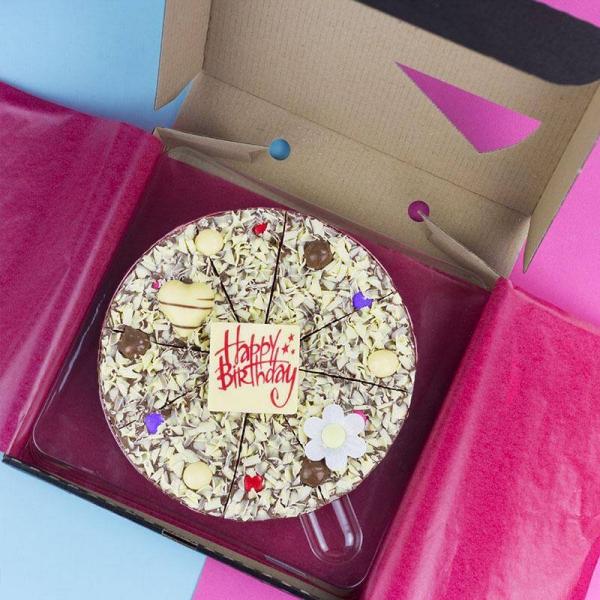 Liebliche und ausgefallene Geschenke für die beste Freundin schoko pizza torte süßer zahn